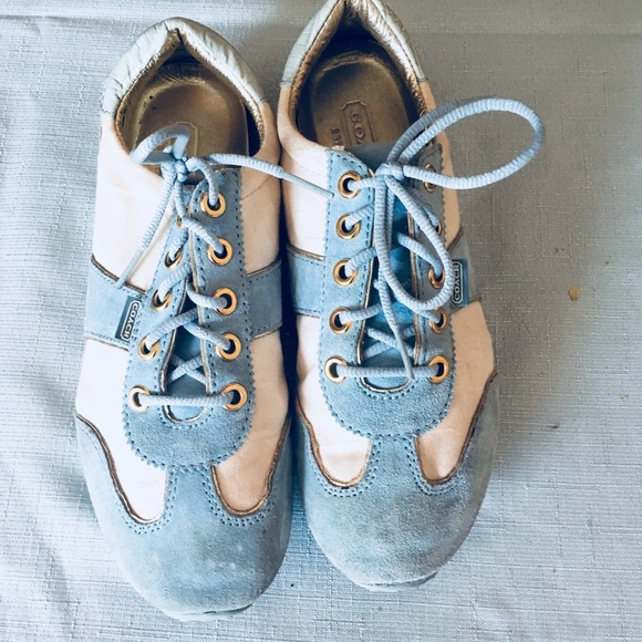 Baby Blue And Cream Sneaker Size